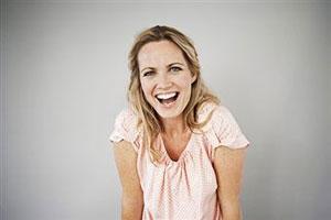 Una mujer feliz