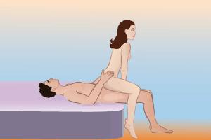Сексуальная жизнь поза женщина сверху