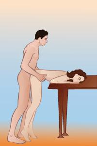 Поза стоя в сексе мужчина схади