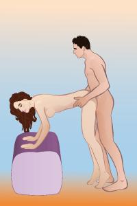 Особенность этой сексуальной позы стоя заключается в том, что она не