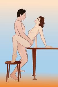 Секс поза тачка на столе