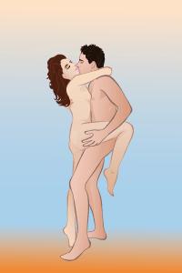 Секс стоя друг на друга