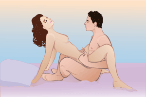 Позы для секса стоя парень выше девушки