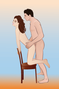 Секс на стуле пощы