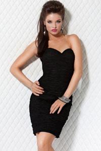 Платье чёрное без бретелек