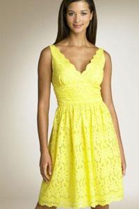 Платье ангелы желтое