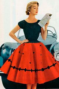 Юбки и платья 50 годов