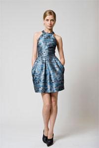 Платье с меховой юбкой