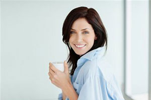 девушка с кофе