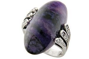 Перстень с чароитом