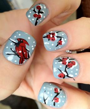 Как сделать новогодний маникюр на короткие ногти