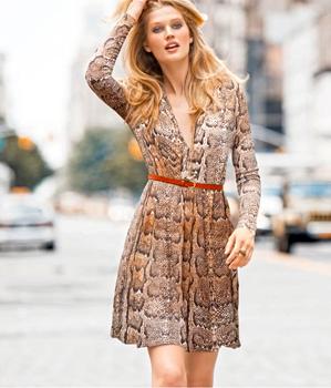 Модные платья осени