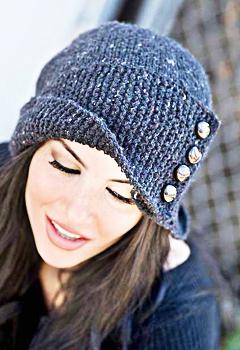 удобные и модные вязаные шапки